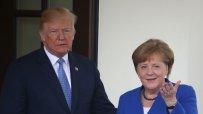 Тръмп разцелува Меркел преди разговорите в Белия дом