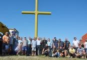 Издигнаха 15-метров стоманен кръст край Любимец
