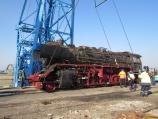 Огромен парен локомотив пристигна от Виена за реставрация в България