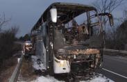 Турски автобус изгоря на пътя Русе - Бяла рано сутринта