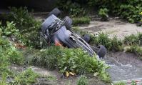 Автомобил блъсна 4 деца и падна в Перловската река