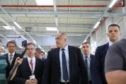 Бойко Борисов на откриването на разширението на завода в Русе за производство на автомобилни части