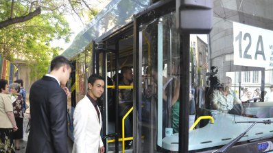 Глобиха с 1 500 лв. шофьор ударил челно автобус