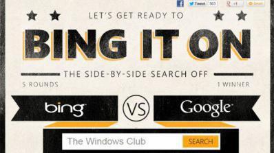 Microsoft пусна игра Bing срещу Google