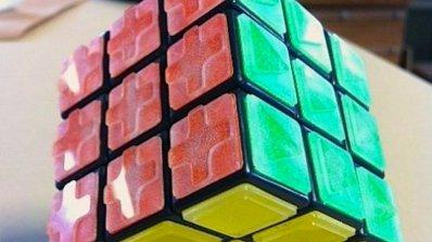 Изобретиха кубче на Рубик за слепи хора