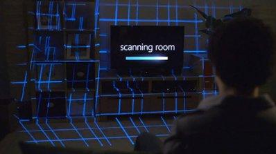Технология превръща цялата стая в телевизионен екран (видео)