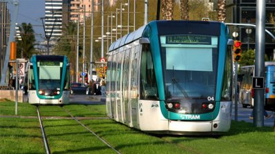 Зелени трамвайни релси в София