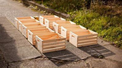 Етажерка от дървени щайги в 4 стъпки