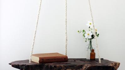 Висяща дървена маса в 7 стъпки