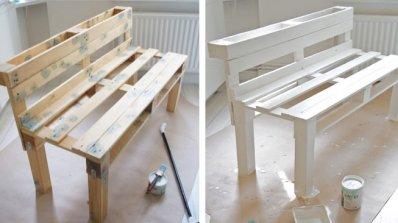Обработка на дърво за пейка от палети
