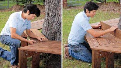 Сглобяване на градинска пейка