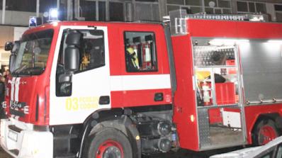 Пожар горя в 18-етажен блок в Бургас