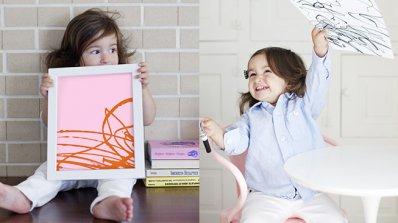 Превърнете детските рисунки в модерно изкуство