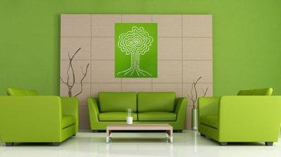 Очарователен дизайн на дневни със зелени елементи
