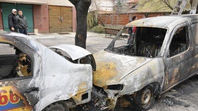 Четири коли горяха в Пловдив