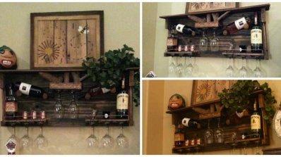 Как да си направим поставка за вино от палети