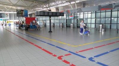 Цветни пътеки пазят пътниците на Летище София от копърки (снимки)