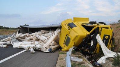 """Един човек загина на тежка катастрофа на АМ """"Марица"""" (снимки)"""