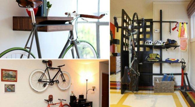 Седем хитри идеи къде да държим велосипеда у дома