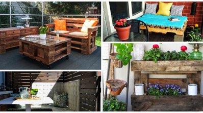 Мебели от палети за по-уютна и красива тераса