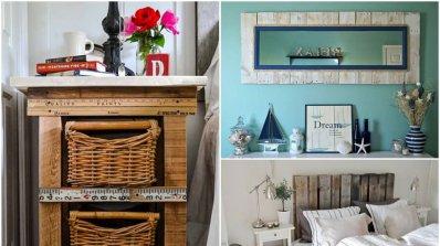 Очарователни мебели от палети за уютна спалня
