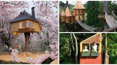 Къщи на дърво, вдъхновени от детските мечти