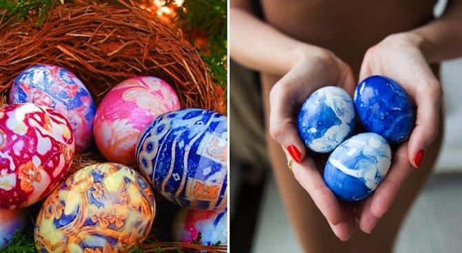 Нетрадиционни техники за боядисване на яйца