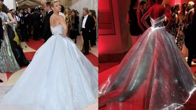 Светеща рокля превърна Клеър Дейнс в пепеляшка