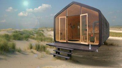 Къщичка с уникален дизайн, изградена от картон (видео)