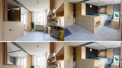 Апартамент от 30 квадрата с хитри идеи за повече пространство