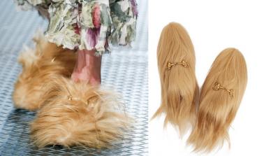 Gucci пусна пантофи от човешка коса