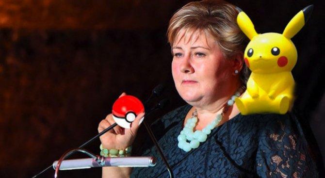 Норвежкият министър-председател играе Pokemon Go