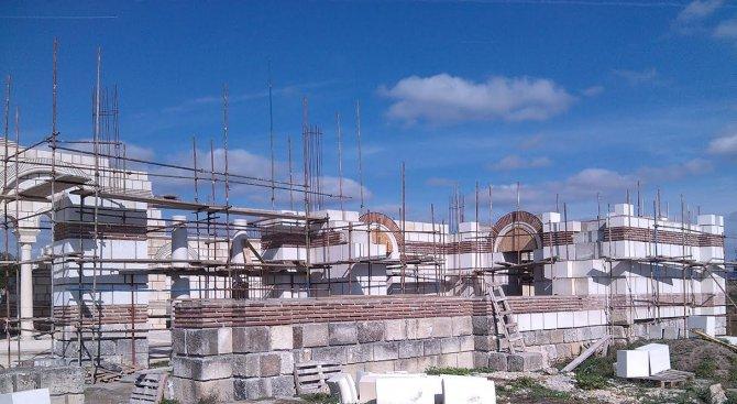 Реставрацията на Голямата базилика в Плиска ще продължи и през зимата