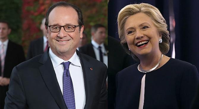 Хилари Клинтън има далечно родство с френския президент Франсоа Оланд