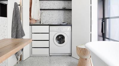Седем идеи за по-спретнато перално помещение