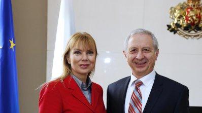 Огнян Герджиков се срещна с еврокомисар Елжбета Бенковска (снимки)