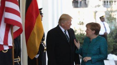 Меркел пристигна в САЩ, среща се с Тръмп (видео+снимки)