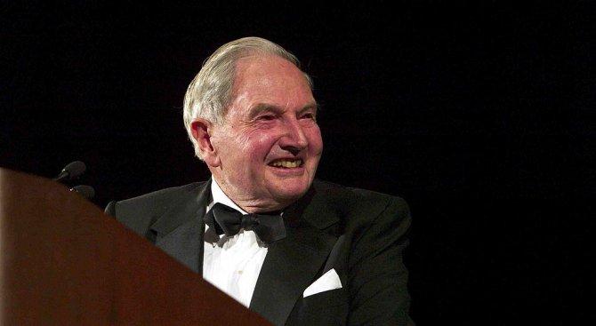 Почина американският милиардер Дейвид Рокфелер