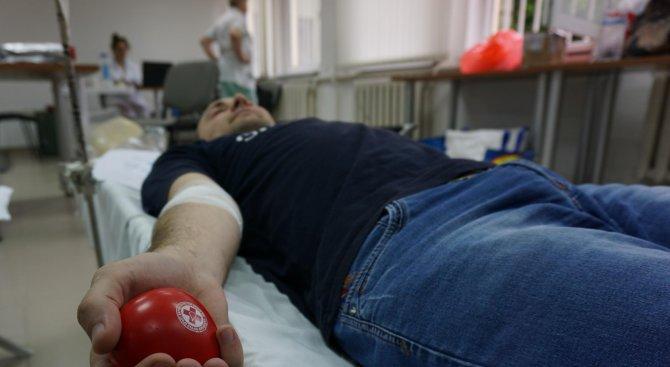 Доброволци дариха кръв във Велико Търново