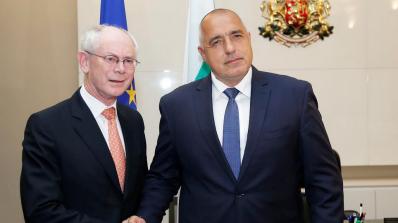 Борисов се срещна с първия председател на Европейския съвет Херман ван Ромпой