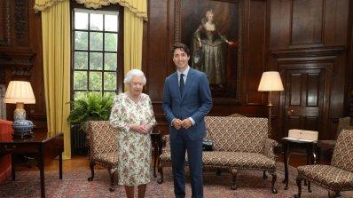 Канадският премиер се срещна с британската кралица