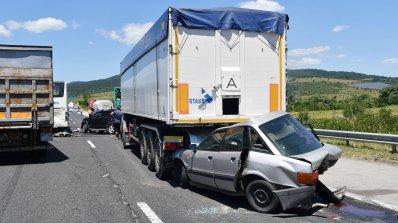 """Обявиха причините за тежката верижна катастрофа на магистрала """"Тракия"""" (снимки)"""