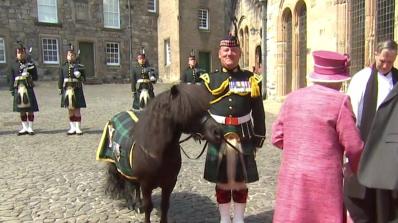 Пони изяде букета на Елизабет II (видео)
