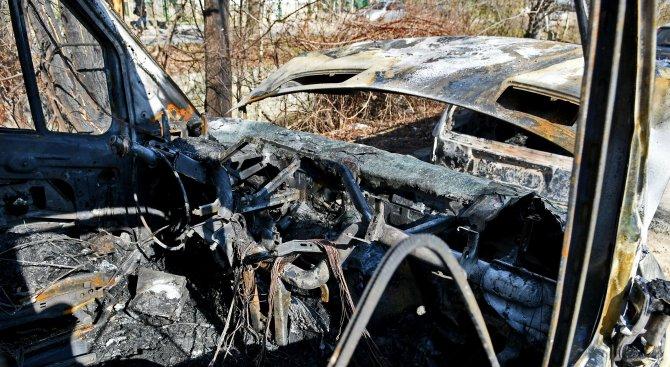 Откриха труп на мъж в изгоряла кола край жп прелез във Варненско