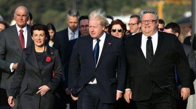 Новозеландски поздрав стъписа Борис Джонсън (видео+снимки)