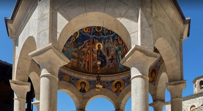 Монасите от Бигорския манастир в Македония с благодарност към евродепутатите от ГЕРБ