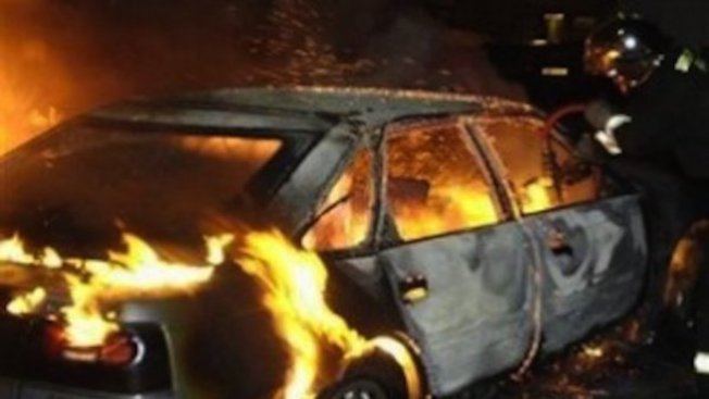 Запалиха кола в Слънчев бряг