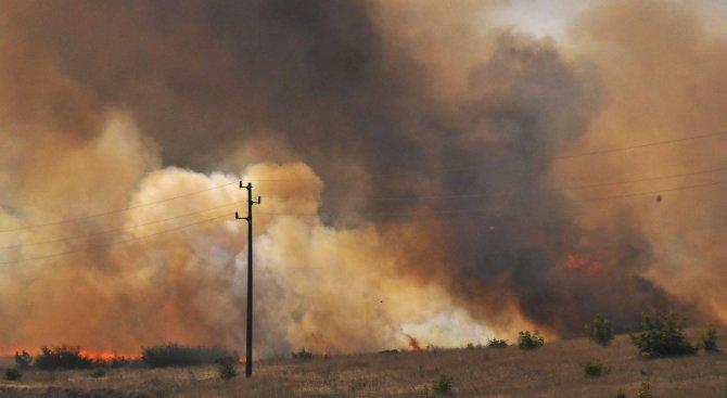 Овладян е пожар на Шуменското плато