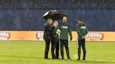 Мачът Хърватия - Косово бе прекратен след 25 минути игра