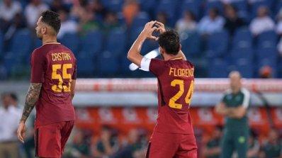 Рома срази Чапекоензе, Флоренци се завърна с гол (видео)